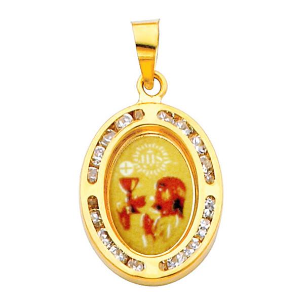 First Communion Gold Pendant - 14 K.  1.0 gr. - PT206