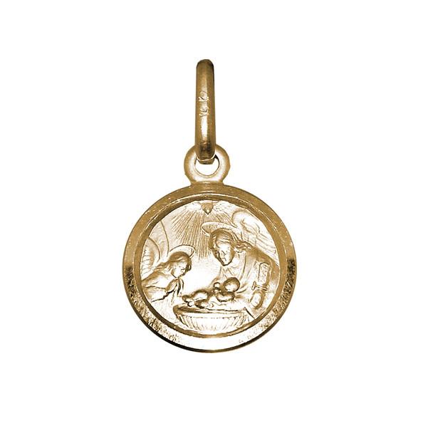 Yellow Gold Baptism Medal - 14 K - BPT015