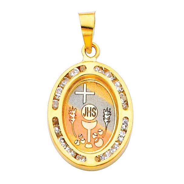 First Communion Gold Pendant - 14 K.  1.3 gr. - PT189