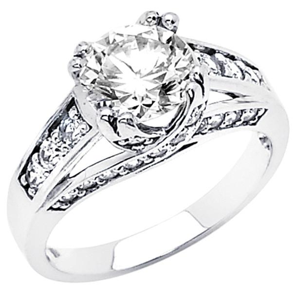 White Gold Engagement Ring - 14K  4.5 gr. - RG51