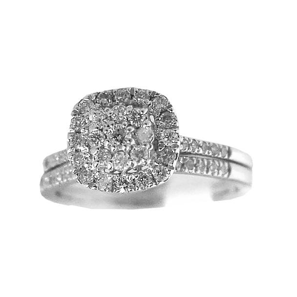 Engagement Ring / Wedding Band 14K - 0.66 ctw - ERB-502