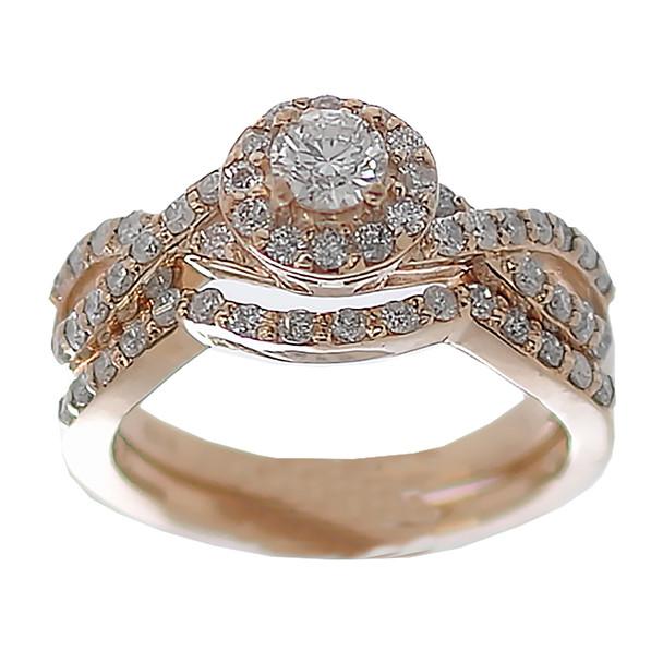 Yellow Gold Engagement Ring - 14K - ERB-612