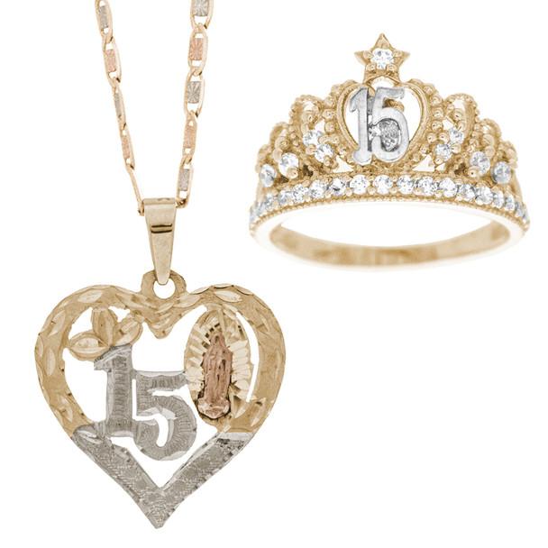 Quinceanera XV Jewelry Set - XVS-102