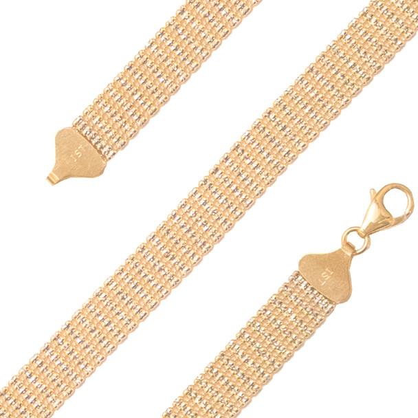Yellow Gold Bracelet  - BLG755