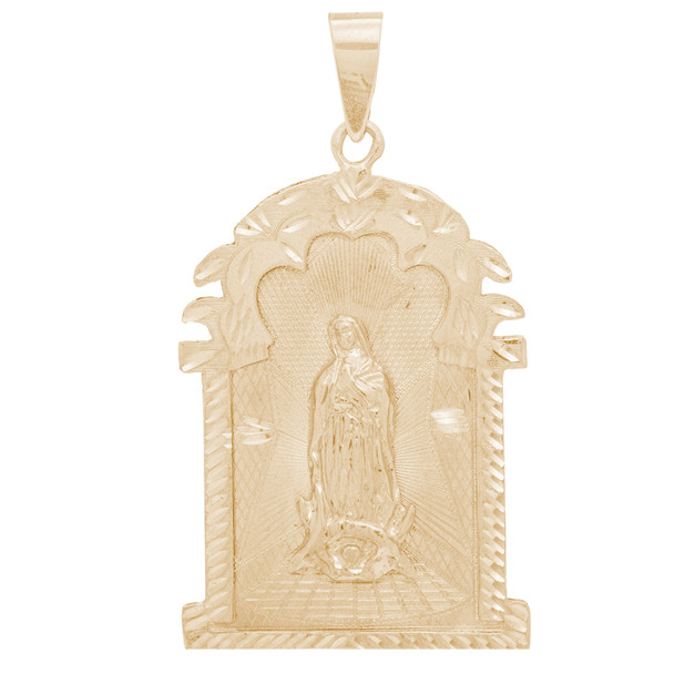 Yellow Gold Virgin Mary Pendant - 14 K - PTR556  14 K.| 14.7 gr.