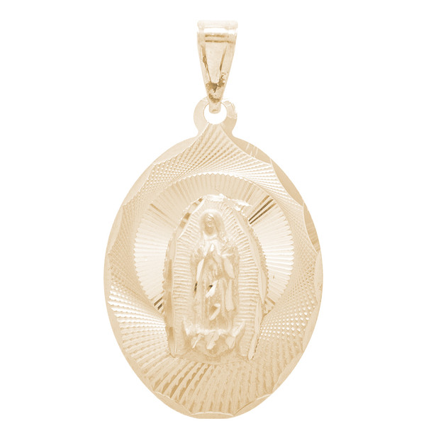 Virgin Mary Yellow Gold Medal - 14 K - RP266  Jesus Christ / Virgin Mary  14 K. | 1.6 gr.
