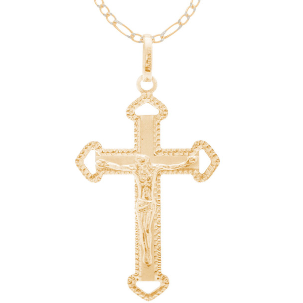 Cross and Chain Set - CZ - 14 K - JST427