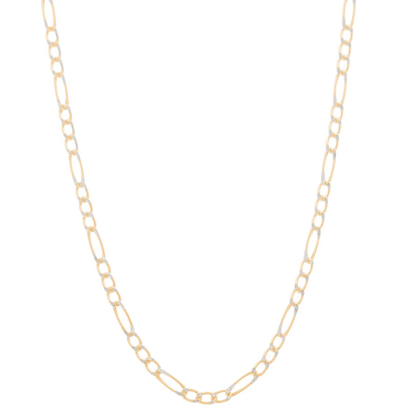 2 Gold Cross and Chain Set - CZ - 14 K - JST428