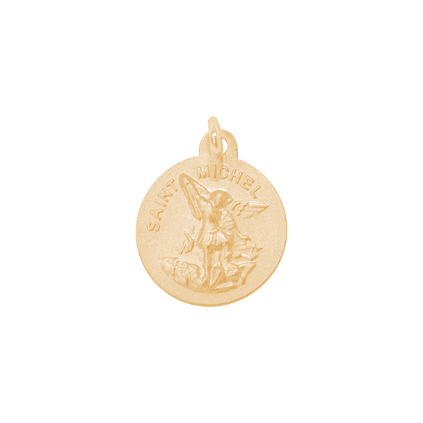 Yellow Gold Medal - Saint Michael - 14 K - RP277