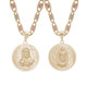 Yellow Gold Medal - 2 Sides - 14 K - RP217