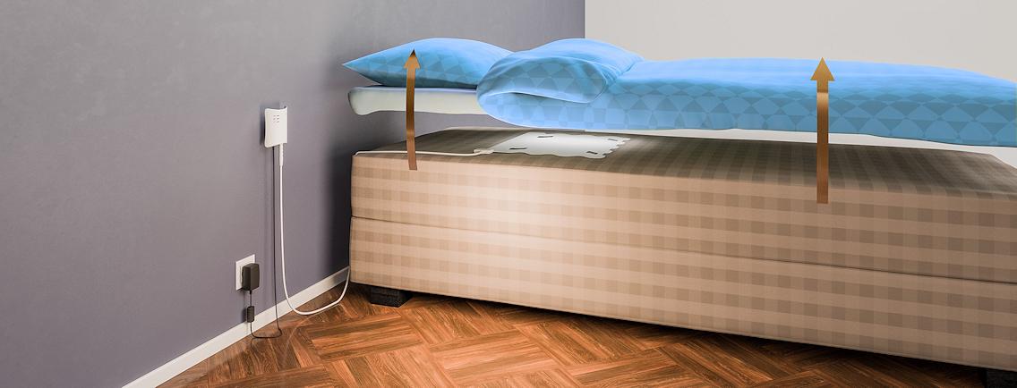 Emfit sensor installed underneath the mattress