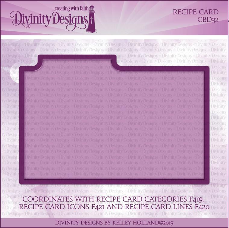 RECIPE CARD DIE
