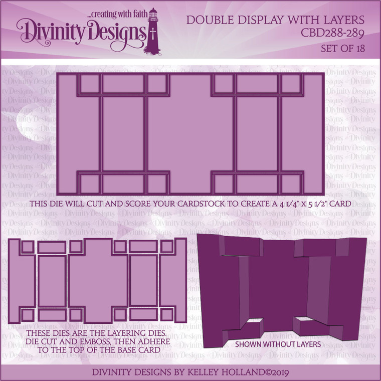DOUBLE DISPLAY WITH LAYERS DIES