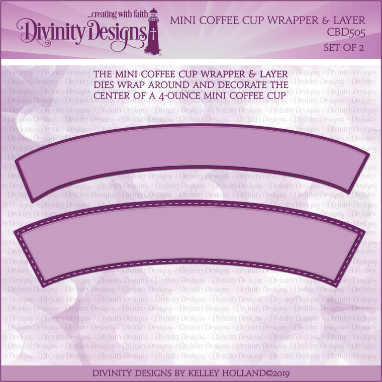 MINI COFFEE CUP WRAPPER & LAYER DIES
