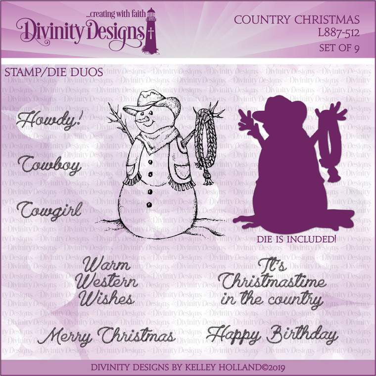 COUNTRY CHRISTMAS (STAMP/DIE DUOS)