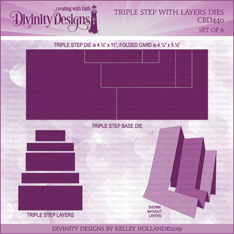 TRIPLE STEP WITH LAYERS DIES