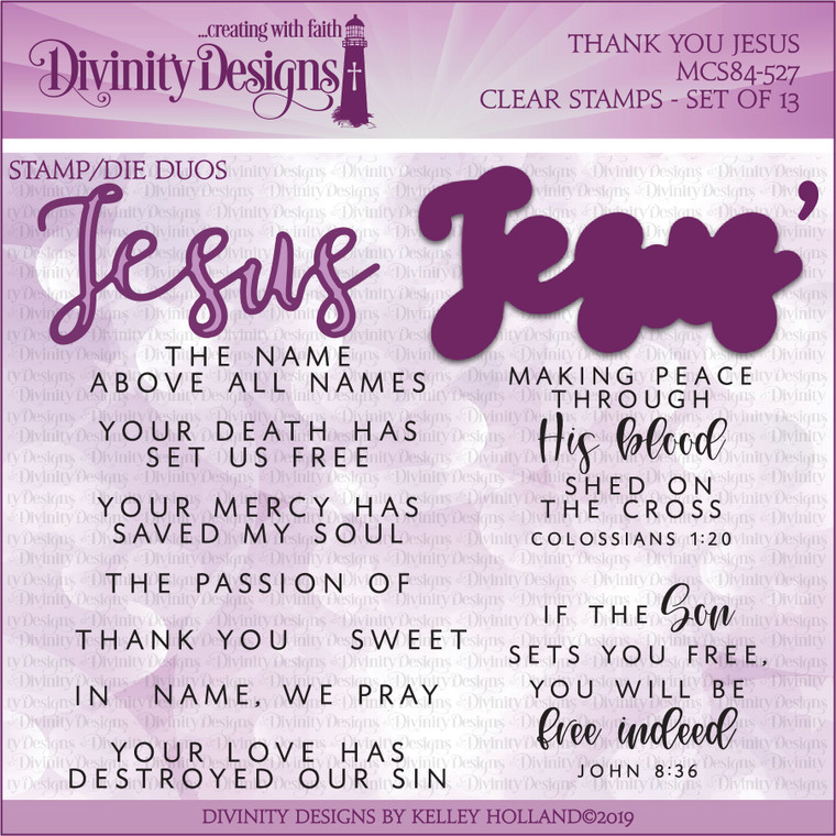 THANK YOU JESUS (STAMP/DIE DUOS-CLEAR STAMPS)