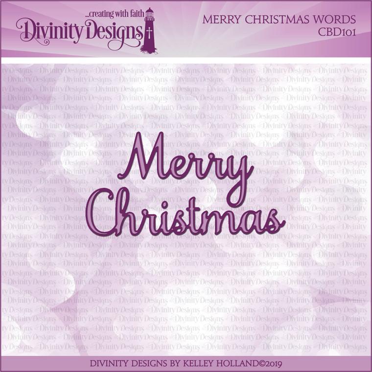 MERRY CHRISTMAS WORDS DIES