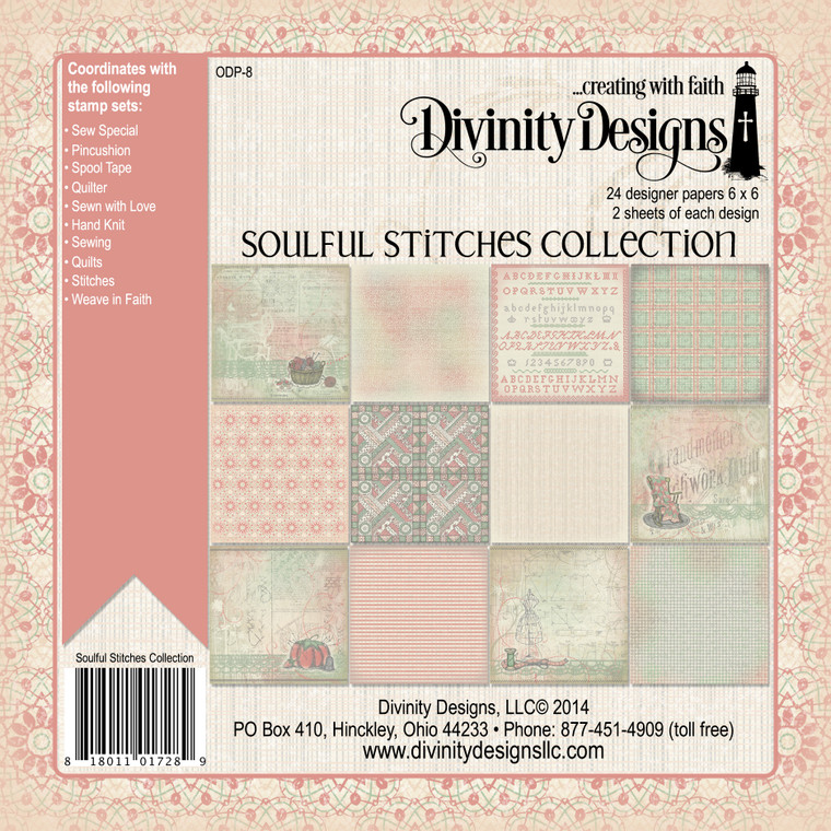 SOULFUL STITCHES COLLECTION 6x6 PAPER PAD