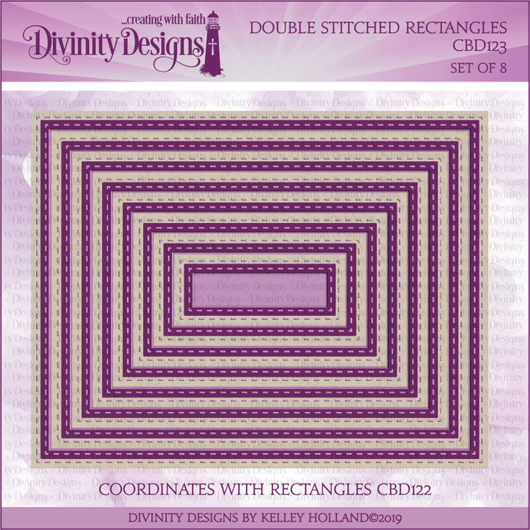 DOUBLE STITCHED RECTANGLES DIES