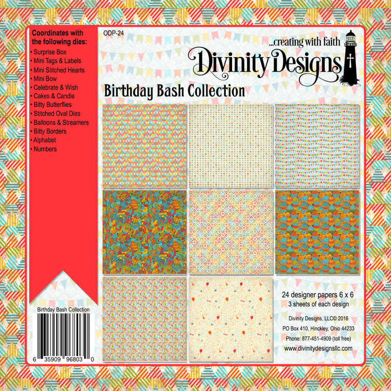 BIRTHDAY BASH COLLECTION 6X6 PAPER PAD