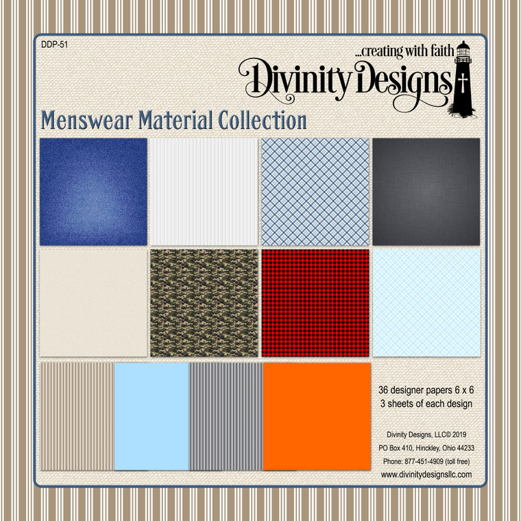 MENSWEAR MATERIAL COLLECTION 6X6 PAPER PAD