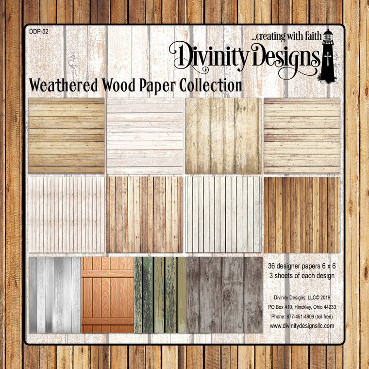 WEATHERED WOOD COLLECTION 6X6 PAPER PAD