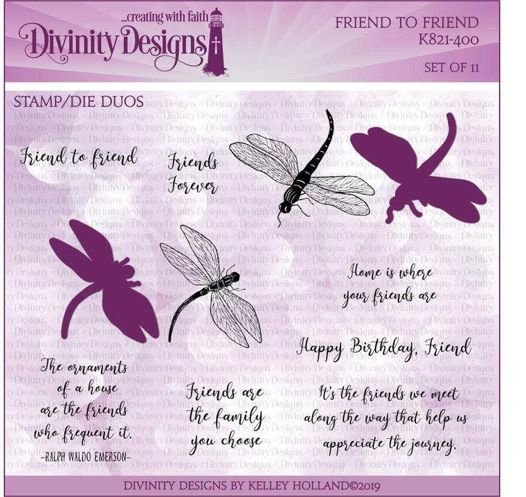FRIEND TO FRIEND (STAMP/DIE DUOS)