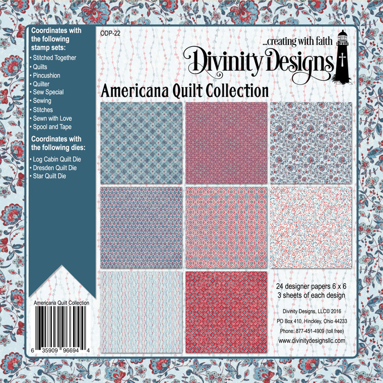 AMERICANA QUILT COLLECTION 6X6 PAPER