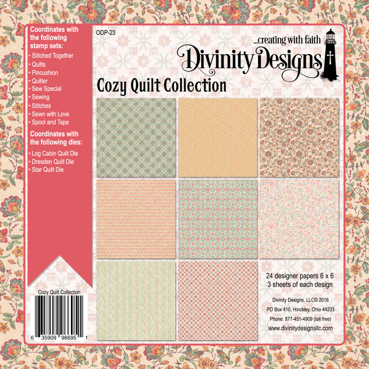COZY QUILT COLLECTION 6X6 PAPER PAD