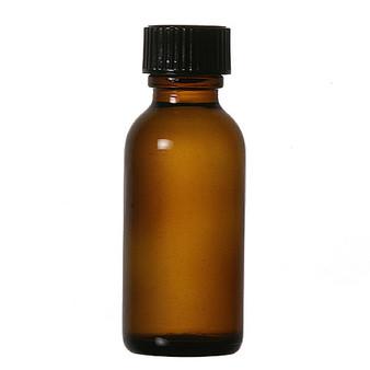 1 oz [30 ml] AMBER Boston Round Bottle [12 PCS]