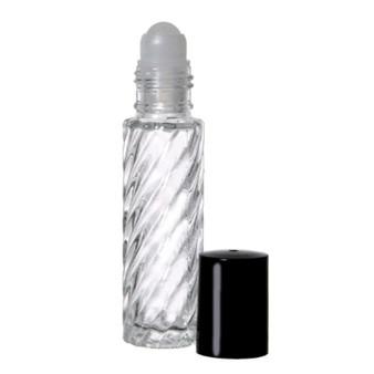 10 ml [1/3 oz] SWIRL Rollon Bottle With Color Caps [12 PCS]