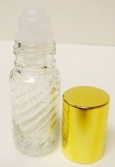 5 ml (1/6 oz) SWIRL Roll on With Aluminium Gold Caps [144 PCS]