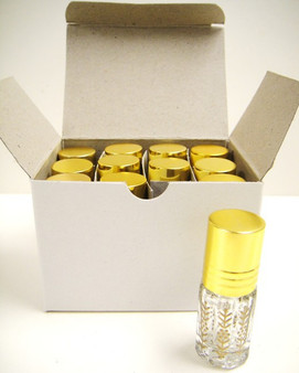 3 ml Printed Roll on with Gold Caps [72 PCS]