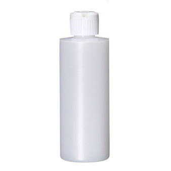 4 oz Natural Plastic Cylinder Round Bottle with Caps 20-410 Neck Finish [12 PCS]