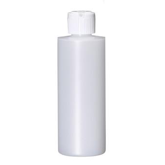 4 oz Natural Plastic Cylinder Round Bottle with Caps 20-410 Neck Finish [72 PCS]