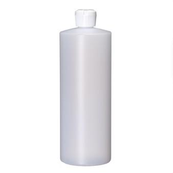 32 oz Natural Cylinder Round Bottle with 28-410 Neck Finish [12 PCS]