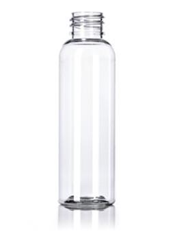 2 oz Clear PET Bullet Round Bottle with 20-410 Neck Finish [72 Pcs]