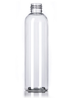 4 oz Clear PET Round Bottle with 20-410 Neck Finish [12 Pcs]