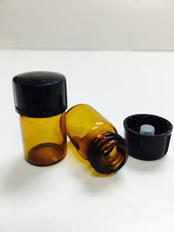 15MM X 26MM [1/2 Dram 5/8] AMBER Glass Vials [72 PCS]