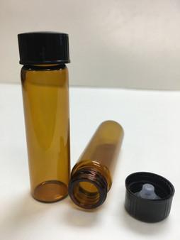 17MM X 60MM [2 Dram] AMBER Glass Vials [12 PCS]