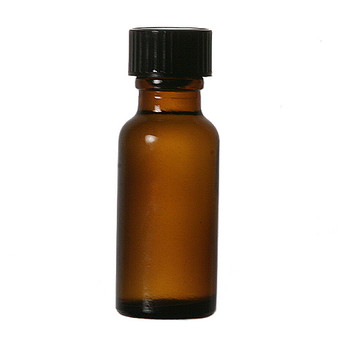1/2 oz [15 ml] AMBER Boston Round Bottle [144 pcs]