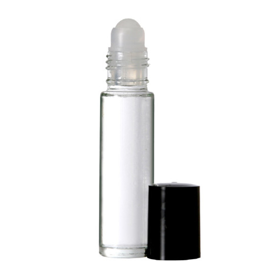 10 ml (1/3 oz) CLEAR Roll on Bottle With Color Caps [72 PCS]