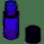 15ml [1/2 oz] Cobalt Blue Boston Round Bottle Euro Dropper Caps with 18-DIN Neck finish [12 Pcs]