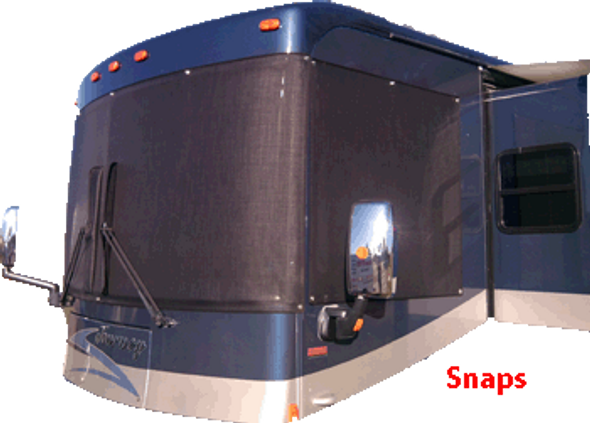 Suntex 90% Custom RV Windshield Cover Kit With Snaps