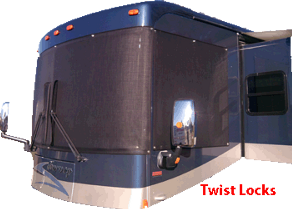 Suntex 90% Custom RV Windshield Cover Kit With Twist Locks