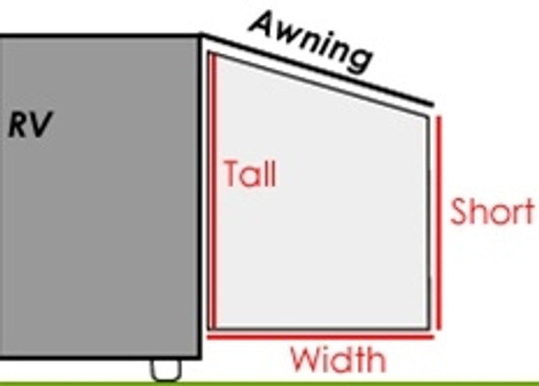Size #2 EZ Shade 85% RV Awning End Panel