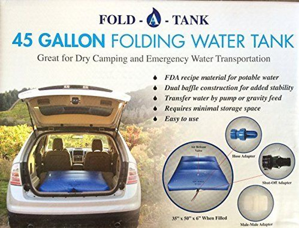 RV 45 Gallon Fresh Water Folding Storage Tank CW1605