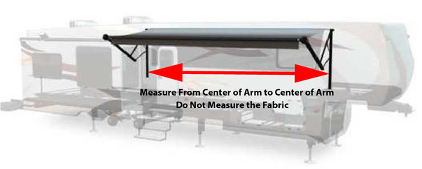 Measure from Center of to Center of Arm