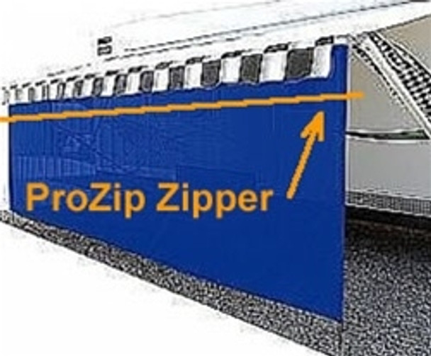 EZ Shade RV Awning Shades - 6' Height with Zipper